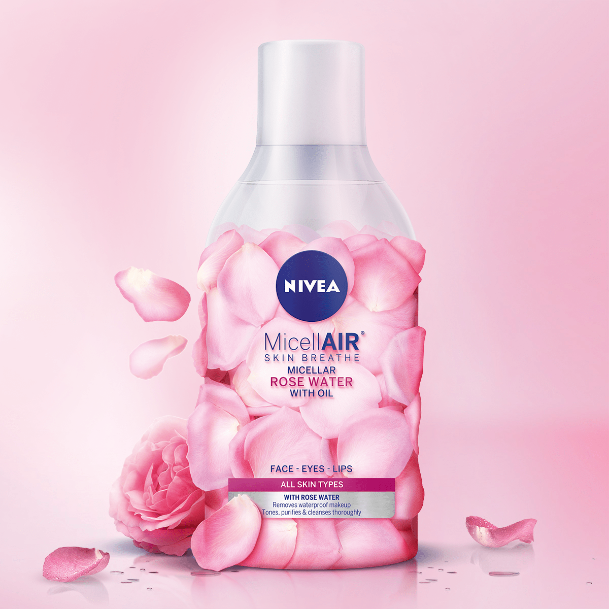 ДВУФАЗНА МИЦЕЛАРНА ВОДА NIVEA MicellAIR Rose
